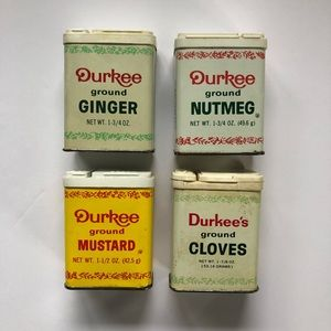 Vintage Spice Containers Burkee Spices Decor